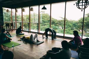 Hatha Yoga Classes in Bangalore Indiranagar in the Yoga Studio at FLUX