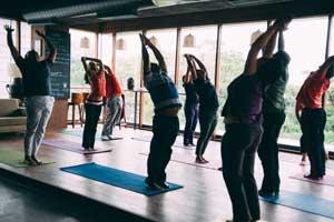 Yoga Classes in Bangalore Indiranagar in the Yoga Studio at FLUX