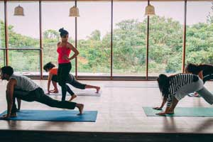 Yoga Classes in Bangalore Indiranagar in the Yoga Studio at FLUX