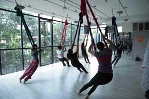 30 Hour Aerial Yoga Certification Course in Bangalore Indiranagar at FLUX