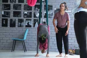 Yoga Postures on Hammocks