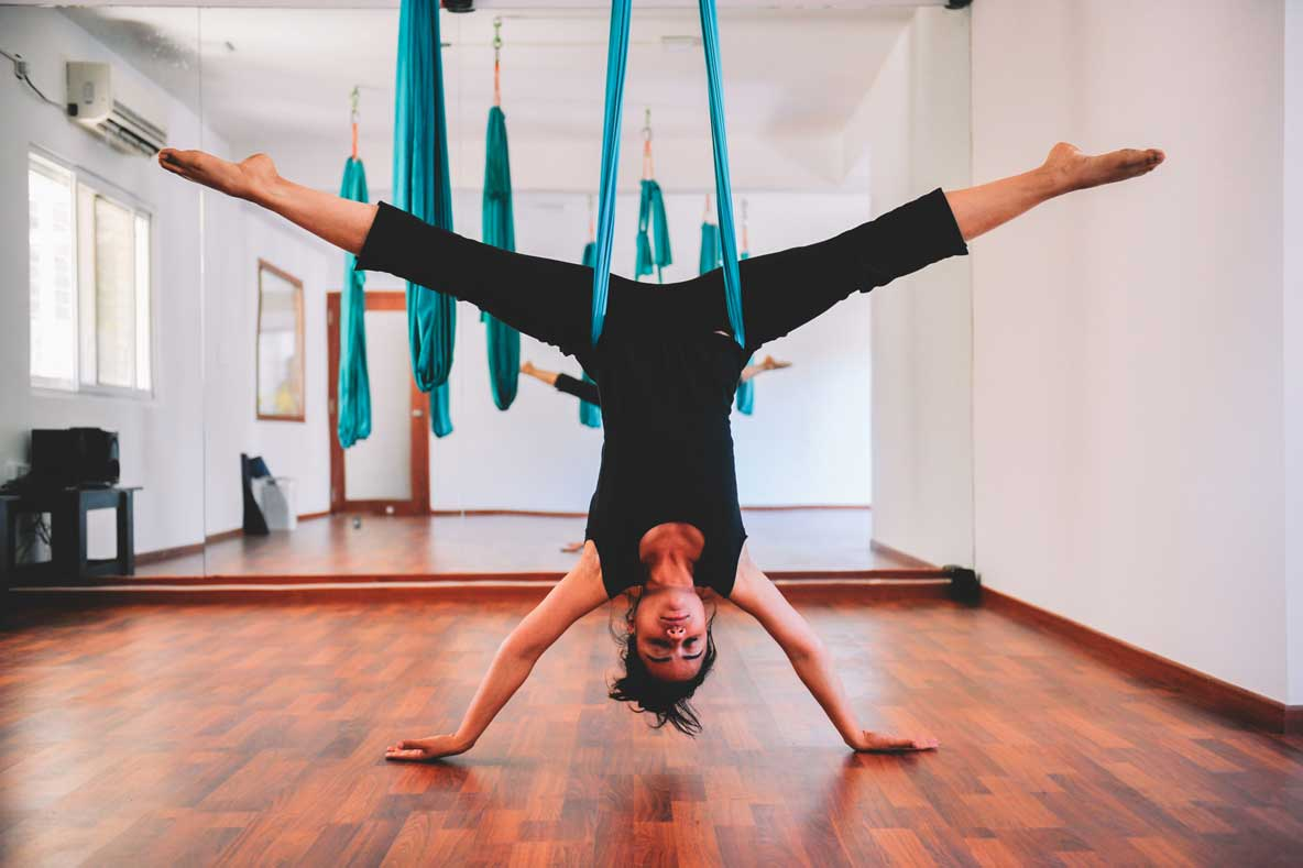 30 Hour Aerial Yoga Certification Course in Bangalore Indiranagar at FLUX