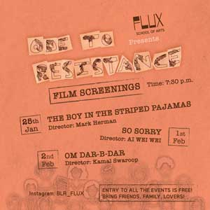 Ode to Resistance: A Series of Art Events in Bangalore Indiranagar at FLUX