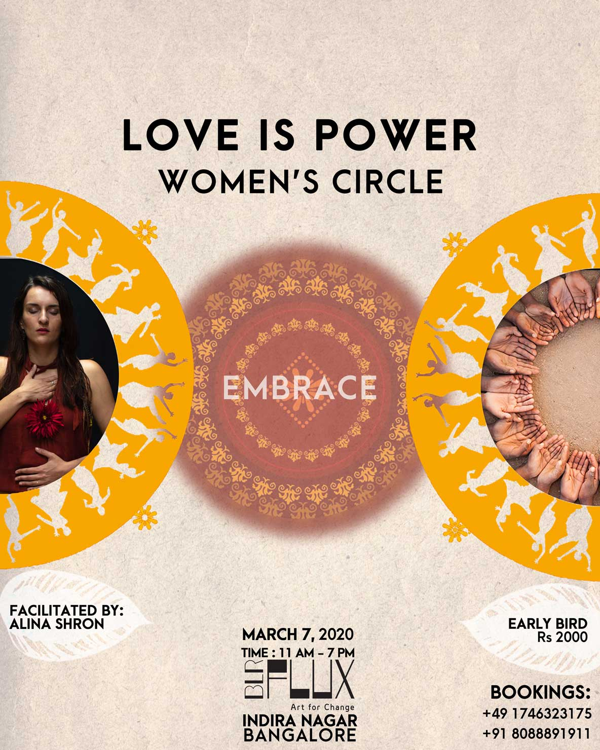 POWER of LOVE Women Circle in Bangalore Indiranagar at FLUX
