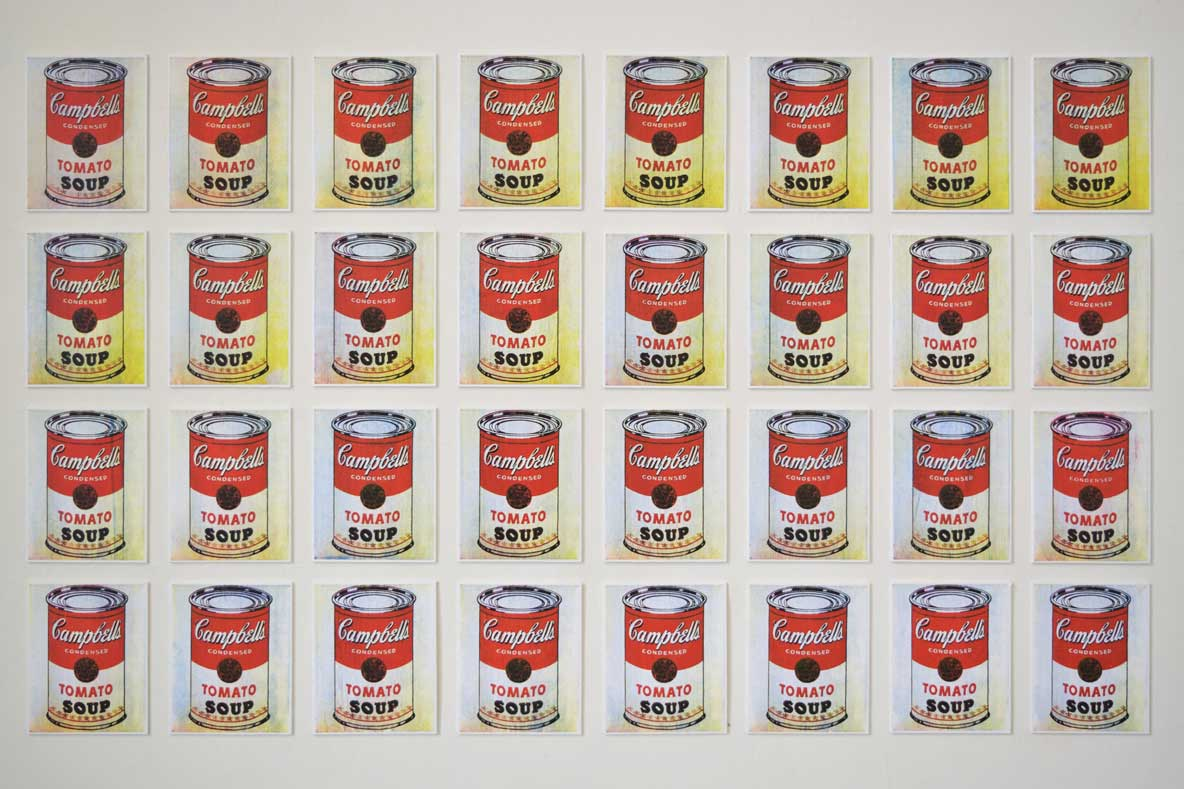 Campbell's 32 soup cans by Warhol