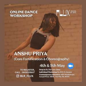 Online Contemporary Dance Classes in Bangalore Indiranagar at FLUX