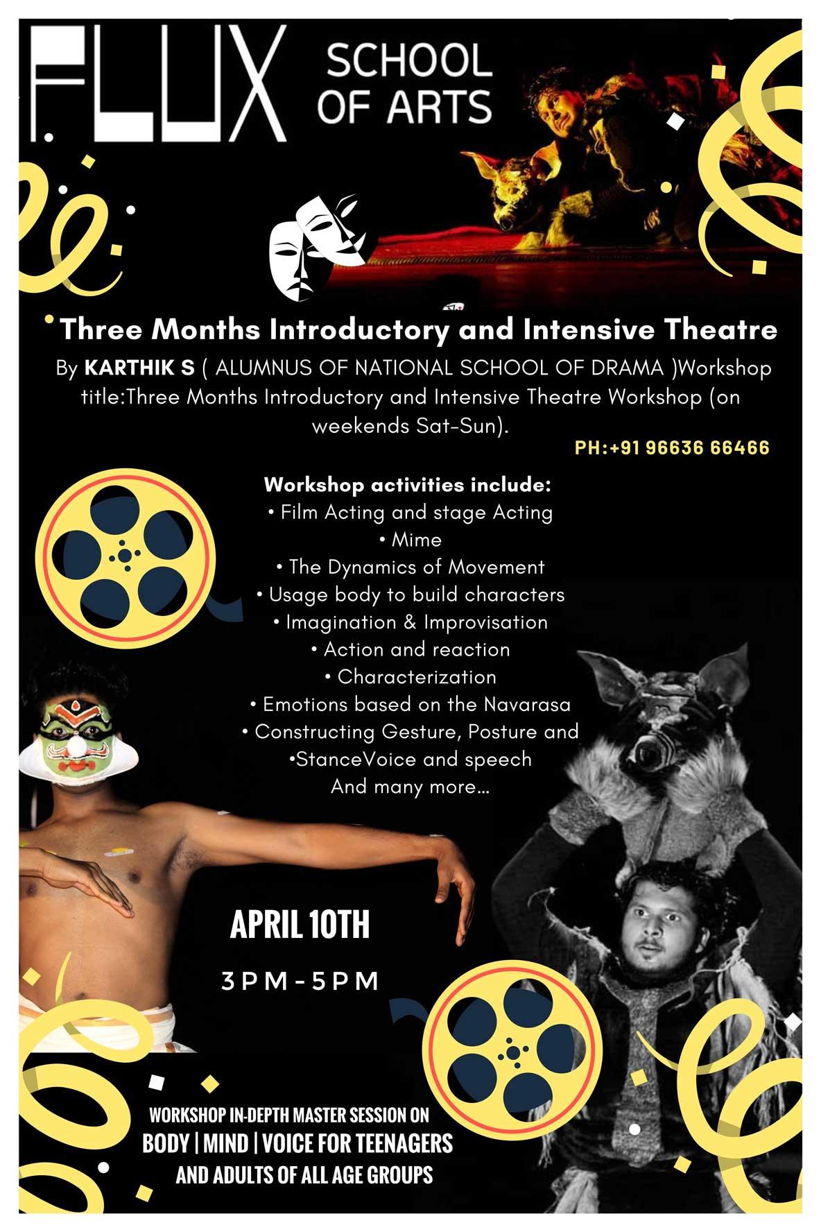 Theatre Workshop in Bangalore Indiranagar at FLUX